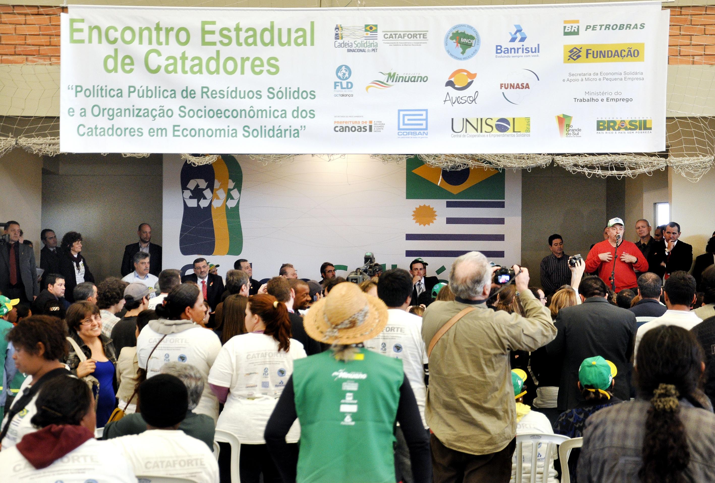 Evento em Canoas reuniu cerca de mil catadores