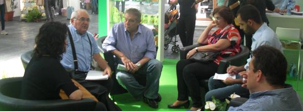 Reuniao com a ONG Chico Mendes durante da Feira Sana