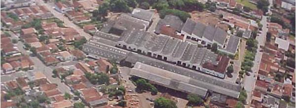 Vista aérea das instalações atuais da Copromem