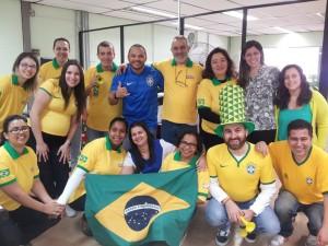 Equipe Unisol Brasil de verde e amarelo!