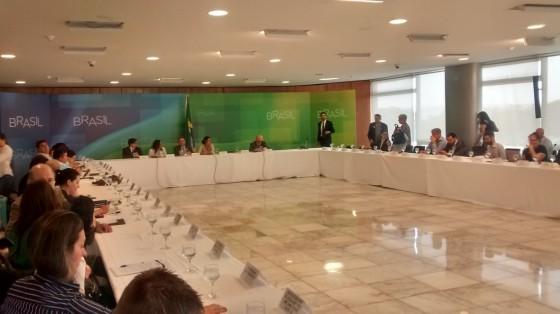 Mesa de debates no encontro 'Participação Social no Mercosul', em Brasília (DF).