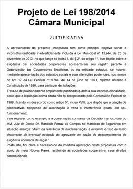 Justificativa PL198 2014
