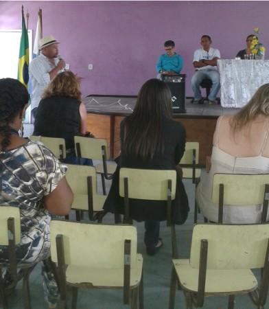 Gelson Silva apresentando  propostas e projetos no Rio de Janeiro.