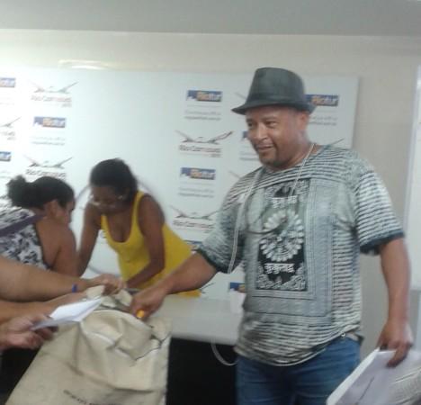 Gelson Silva, recebendo os cumprimentos pela nomeação.