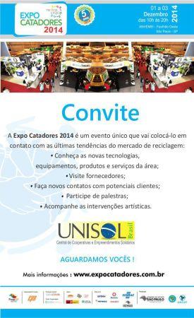 Expocatadores convite 2014 UNISOL