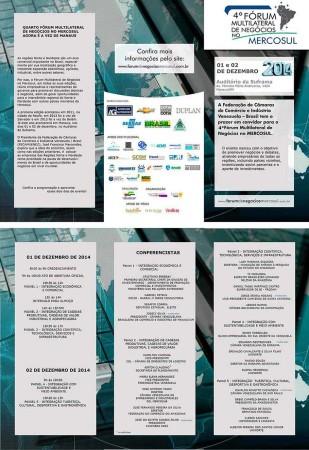 Forum de Negocios Mercosul programacao