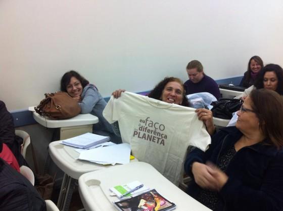 Palestra p a turma 7A da Pedagogia IFRS POA. Credito Claudete Souza