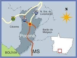 Pocone Mapa Mato Grosso e Municipios com br