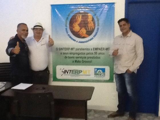 Geraldo Lucio e Borges no SINTERP MS. Crédito: Geraldo Lucio.