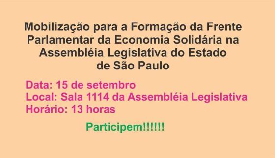 Criação Frente Parlamentar ALESP 15 set 2015