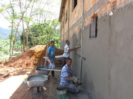 Construção da COOPAFABRICA. Crédito: equipe Coopafarga.