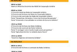 Programacao Geral - Encontro das Redes - Seminario Nacional