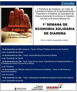 Cooperativa Social 18 de Maio é discutida na Semana de ECOSOL de Diadema
